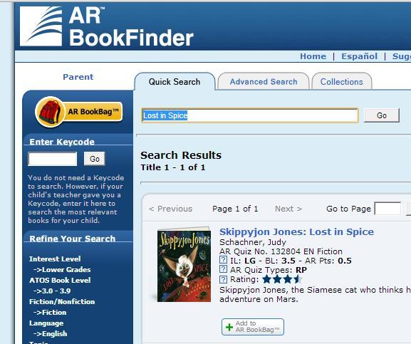 AR BookFinder US - Welcome